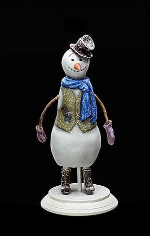 Snowman<br> in a waistcoat with patches